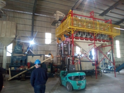 Nuevas inversiones planta de proceso Marcos Juárez (colocación de caracoles)
